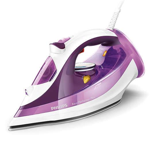 Утюг PHILIPS GC4519/30,  2400Вт,  фиолетовый/ белый