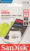Карта памяти microSDXC UHS-I SANDISK Ultra 80 64 ГБ, 80 МБ/с, 533X, Class 10, SDSQUNS-064G-GN3MN,  1 шт. вид 1