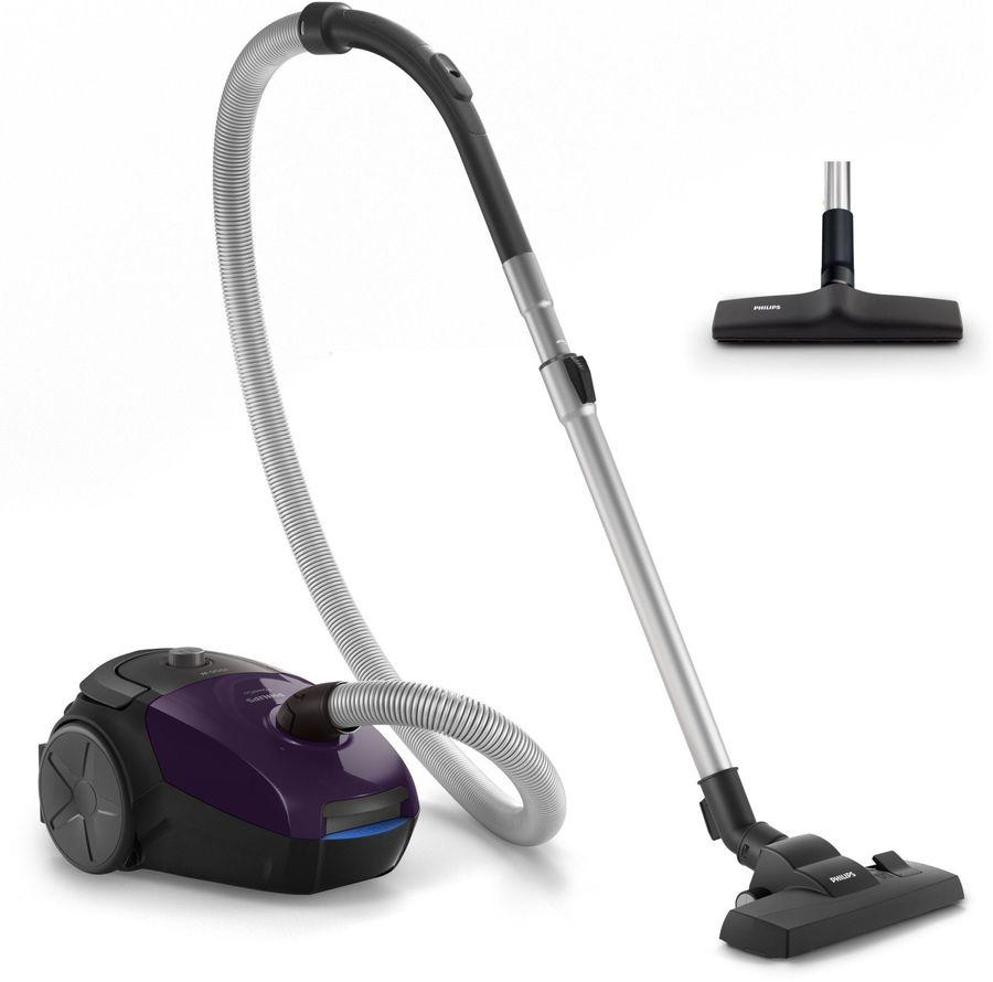 Пылесос PHILIPS PowerGo FC8295/01, 2000Вт, фиолетовый/черный