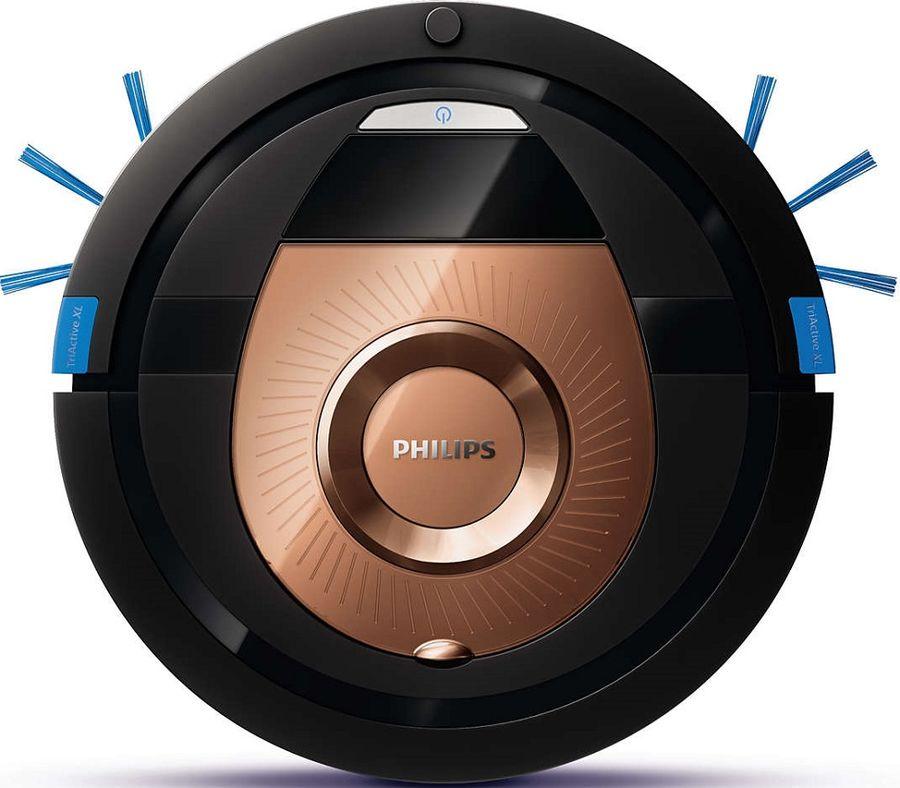 Робот-пылесос PHILIPS SmartPro Compact FC8776/01, 24Вт, черный/бронзовый