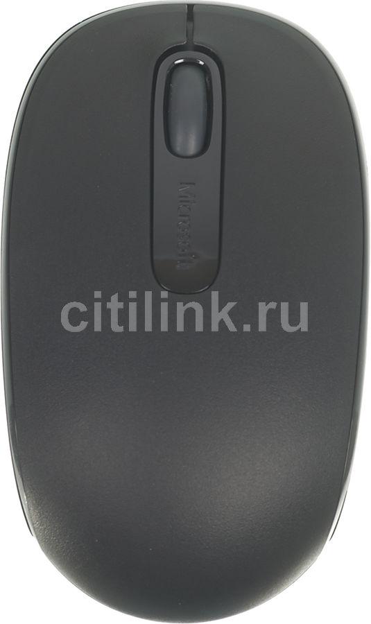 Мышь MICROSOFT Mobile Mouse 1850 for business, оптическая, беспроводная, USB, черный [7mm-00002]
