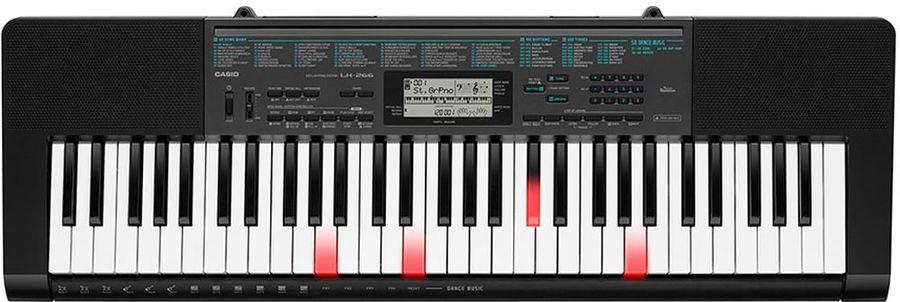 Синтезатор CASIO LK-266, 61, невзвешенная, полноразмерные, черный матовый