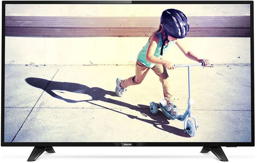 "LED телевизор PHILIPS 43PFT4132/60  ""R"", 43"", FULL HD (1080p),  черный"