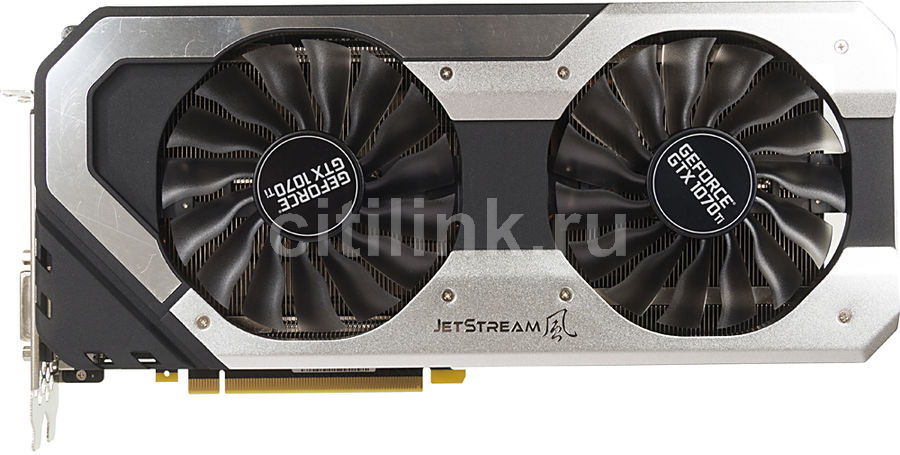 Видеокарта PALIT nVidia  GeForce GTX 1070Ti ,  PA-GTX1070Ti JetStream 8G,  8Гб, GDDR5, Ret [ne5107t015p2-1041j]