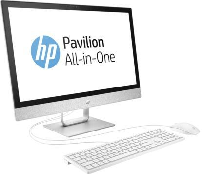 Моноблок HP Pavilion 24-r013ur, Intel Core i3 7100T, 8Гб, 1000Гб, AMD Radeon 530 - 2048 Мб, DVD-RW, Windows 10, белый [2mj42ea] компьютер iru home 310 intel core i3 7100 ddr4 4гб 1тб amd radeon rx 460 2048 мб dvd rw windows 10 home черный [435302]