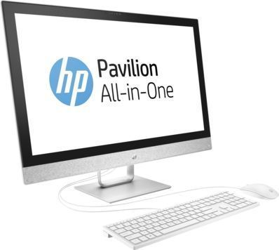 купить Моноблок HP Pavilion 27-r004ur, Intel Core i3 7100T, 8Гб, 1000Гб, Intel HD Graphics 630, DVD-RW, Windows 10, белый [2mj64ea] дешево