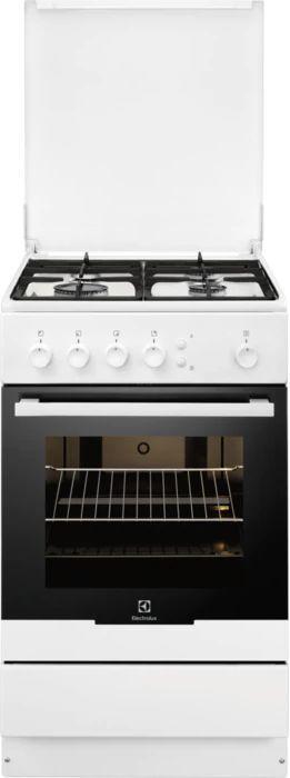Газовая плита ELECTROLUX EKG95010CW,  газовая духовка,  белый