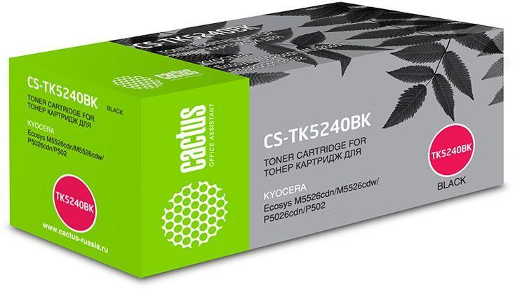 Картридж CACTUS CS-TK5240BK, черный