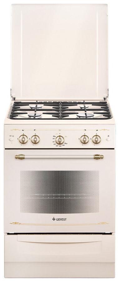 Газовая плита GEFEST ПГ 6100-02 0186,  газовая духовка,  бежевый