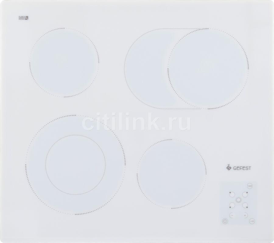 Варочная панель GEFEST ЭС В СН 4231 К12,  Hi-Light,  независимая,  белый