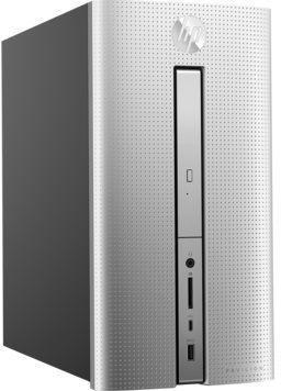Компьютер  HP Pavilion 570-p009ur,  Intel  Core i3  7100,  DDR4 8Гб, 256Гб(SSD),  Intel HD Graphics 630,  DVD-RW,  Free DOS 2.0,  серебристый [2cw87ea]