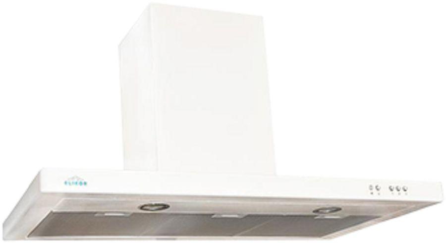 Вытяжка каминная Elikor Квадра 60П-430-К3Д белый управление: кнопочное (1 мотор)