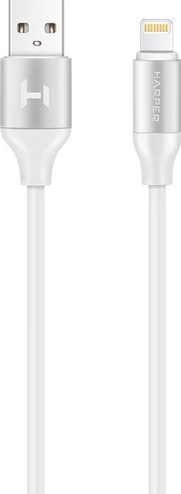 Кабель HARPER Lightning -  USB 2.0,  1.0м,  белый [sch-530]