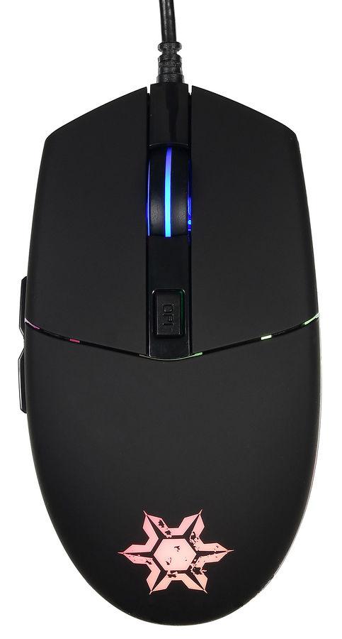 Мышь OKLICK 955G FROST, игровая, оптическая, проводная, USB, черный