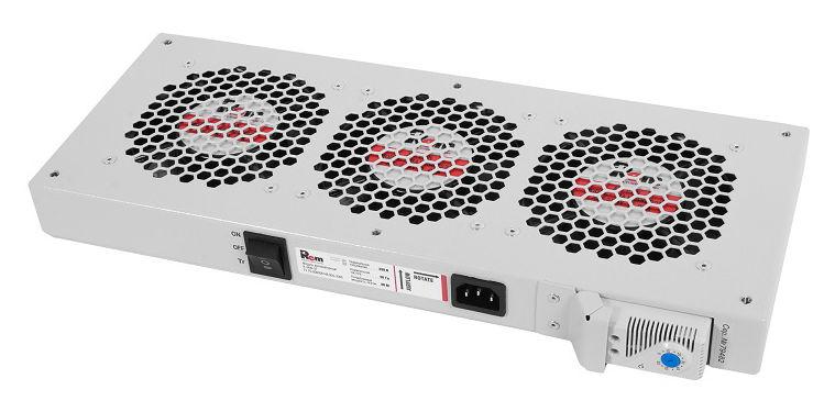 Модуль вентиляторный ЦМО (R-FAN-3T) 3 вент. с термостатом серый (упак.:1шт)