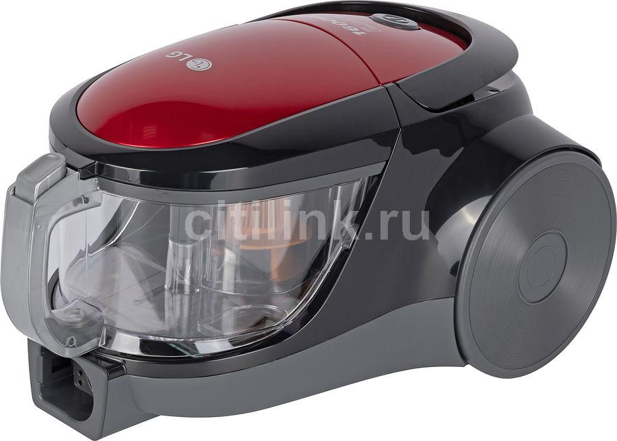Пылесос LG VK76A06NDRP, 1600Вт, красный