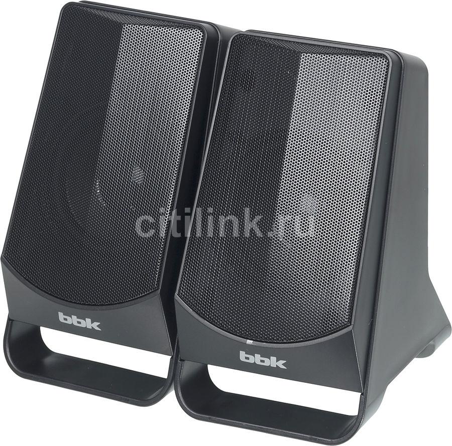 Колонки BBK CA-199S,  2.0,  черный