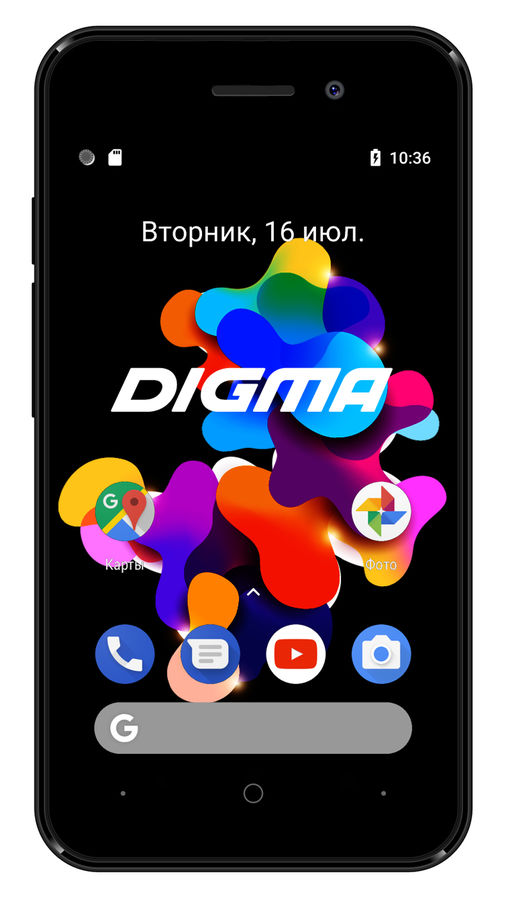 Смартфон DIGMA HIT 8Gb,  Q401 3G,  черный