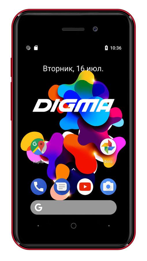 Смартфон DIGMA HIT 8Gb,  Q401 3G,  красный