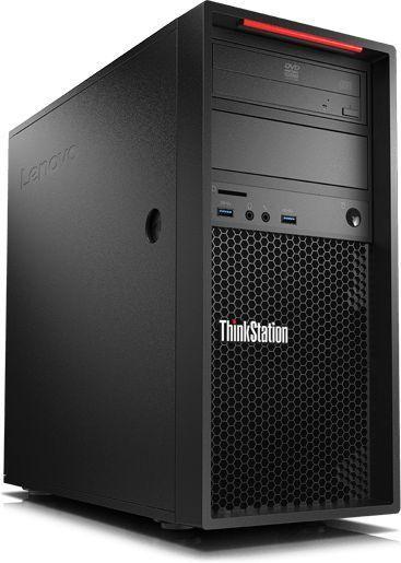 Рабочая станция  LENOVO ThinkStation P320,  Intel  Xeon E3  1230 v6,  DDR4 16Гб, 256Гб(SSD),  NVIDIA Quadro P1000 - 4096 Мб,  DVD-RW,  CR,  Windows 10 Professional,  черный [30bh004tru]