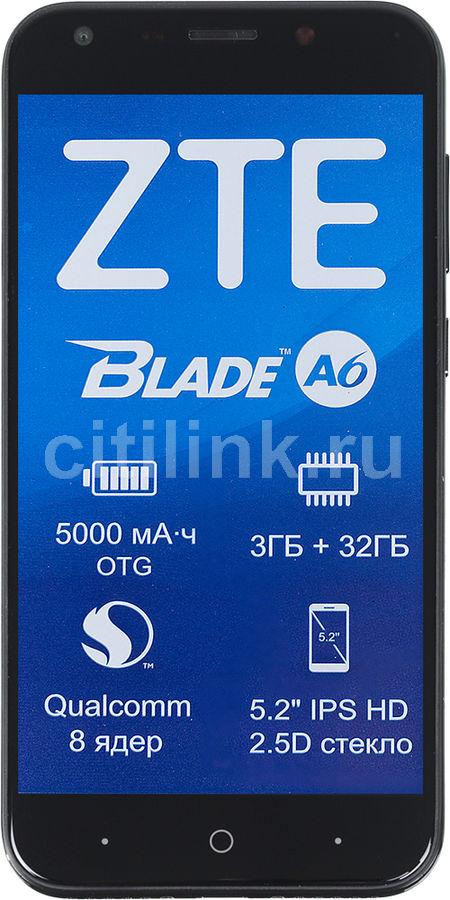 Смартфон ZTE Blade A6,  черный