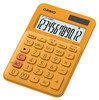 Калькулятор CASIO MS-20UC-RG-S-EC,  12-разрядный, оранжевый вид 2