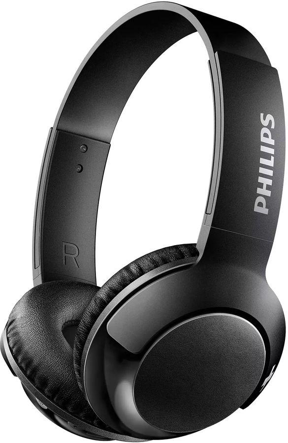 Наушники PHILIPS SHB3075BK, накладные,  черный, беспроводные bluetooth