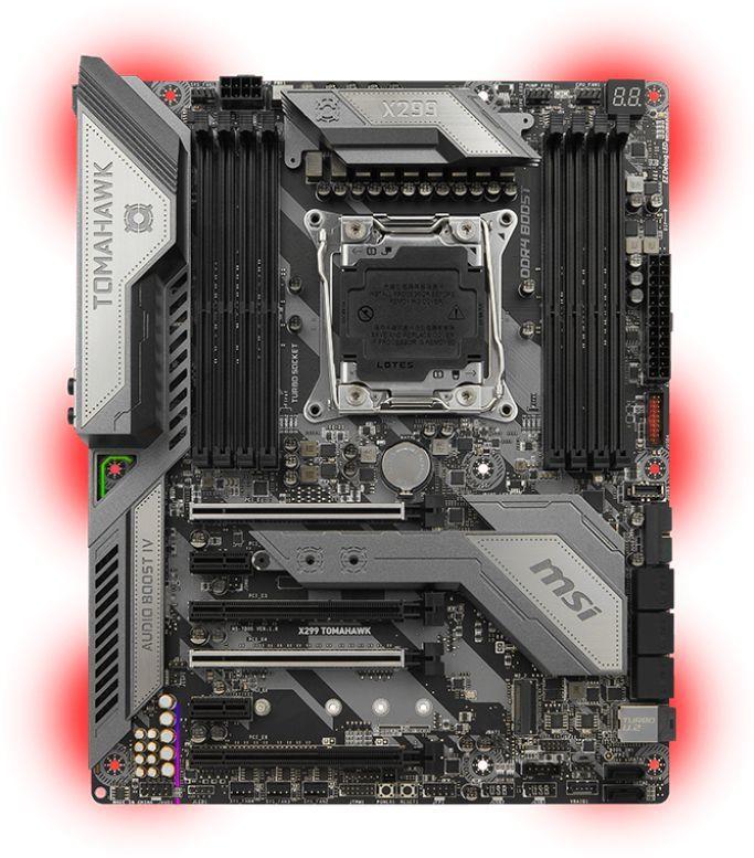 Материнская плата MSI X299 TOMAHAWK, LGA 2066, Intel X299, ATX, Ret