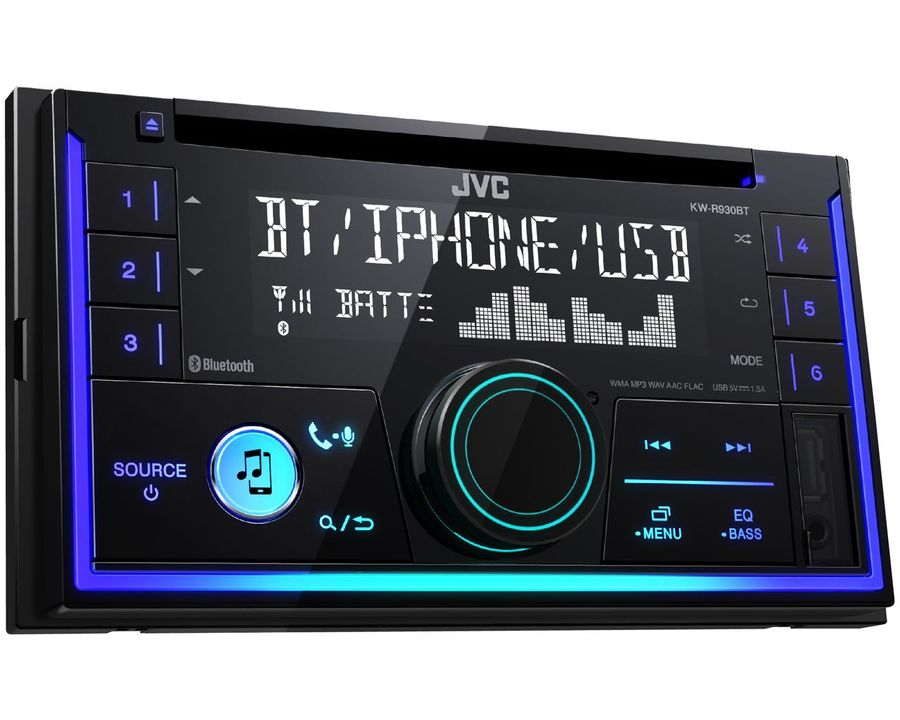 Автомагнитола JVC KW-R930BT,  USB