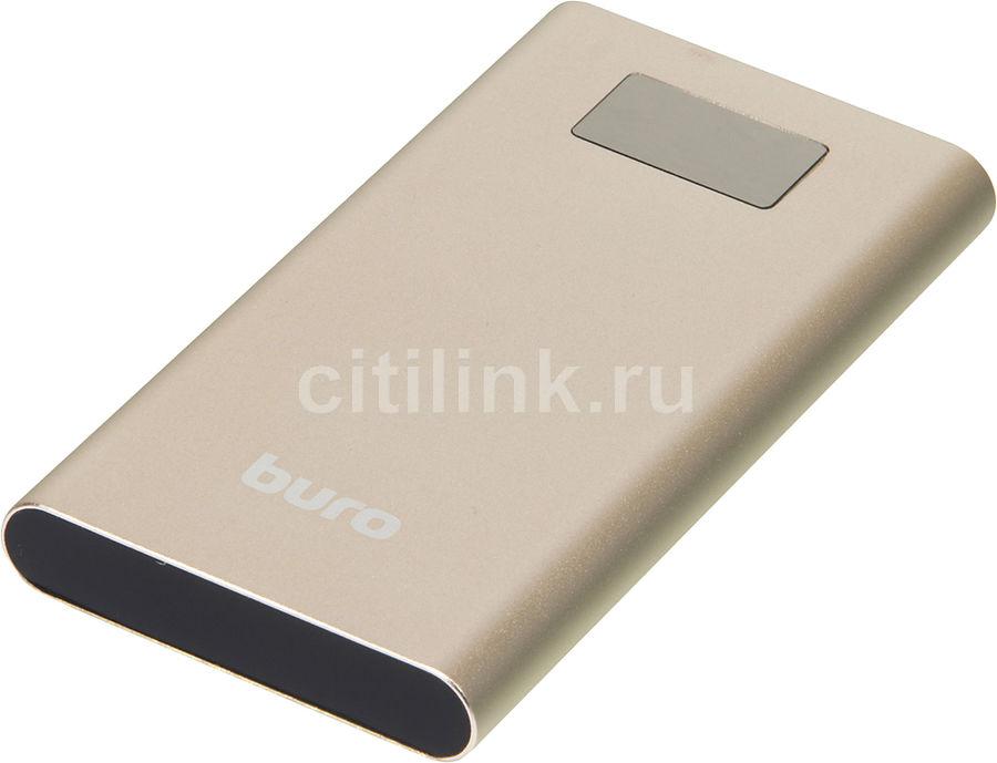 Внешний аккумулятор (Power Bank) BURO RA-10000-QC3.0-I&O,  10000мAч,  золотистый