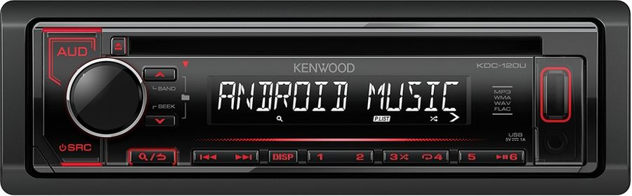 Автомагнитола KENWOOD KDC-120UR, USB автомагнитола kenwood kdc 151ry usb mp3 cd fm 1din 4х50вт черный