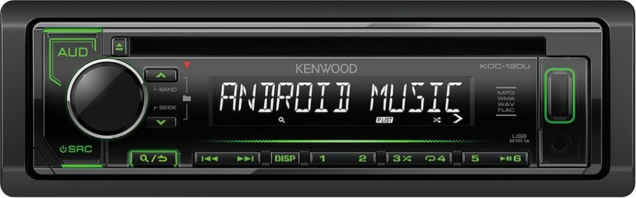 Автомагнитола KENWOOD KDC-120UG, USB автомагнитола kenwood kdc 300uv usb mp3 cd fm rds 1din 4х50вт черный