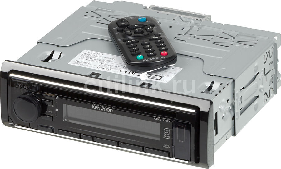 Автомагнитола KENWOOD KDC-172Y, USB автомагнитола kenwood kdc 151ry usb mp3 cd fm 1din 4х50вт черный