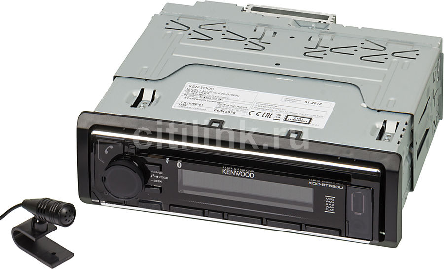 Автомагнитола KENWOOD KDC-BT520U автомагнитола kenwood kdc 210ui usb mp3 cd fm 1din 4х50вт черный