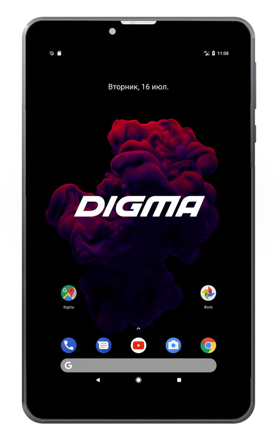 Планшет DIGMA Optima Prime 4 3G, 1GB, 8GB, 3G, Android 7.0 черный [tt7174pg] digma optima 10 4 3g