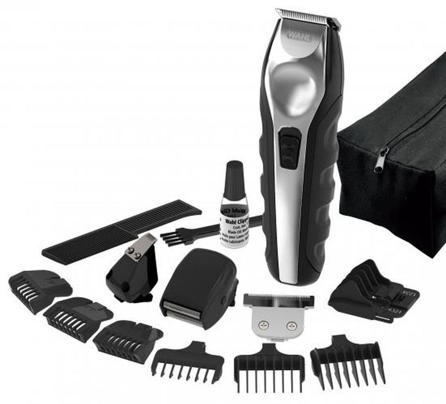 триммер remington pg6030 e51 grooming kit Триммер WAHL Ergonomic Total Grooming Kit, черный/серебристый [9888-1216]