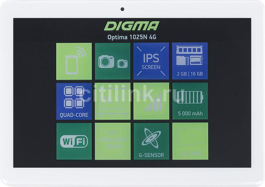 Планшет DIGMA Optima 1025N 4G,  2GB, 16GB, 3G,  4G,  Android 7.0 белый [ts1190ml]