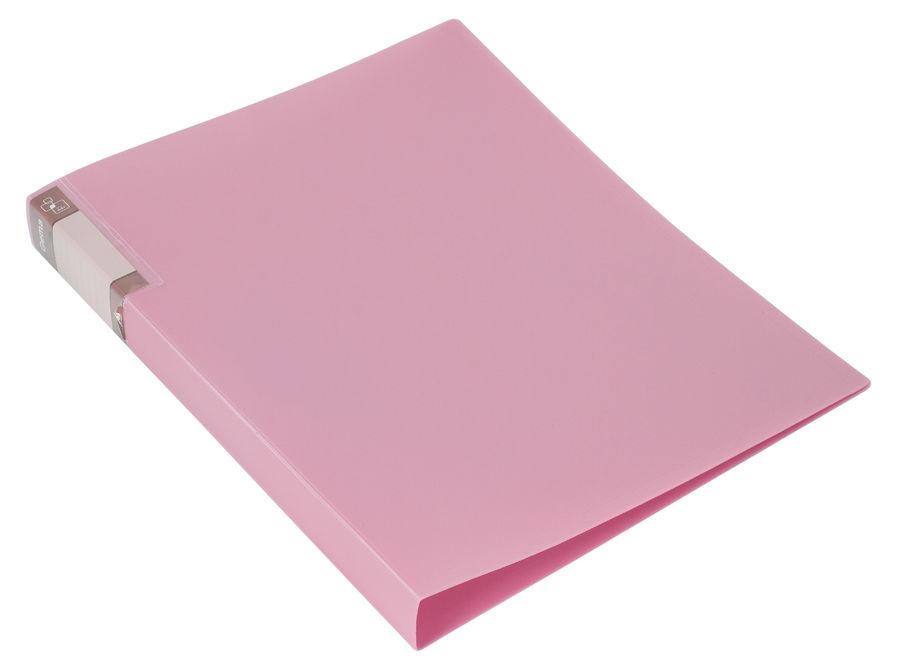 Папка с метал.зажим Бюрократ Gems GEM07CPIN A4 пластик 0.7мм торц.карм с бум. встав розовый аметист