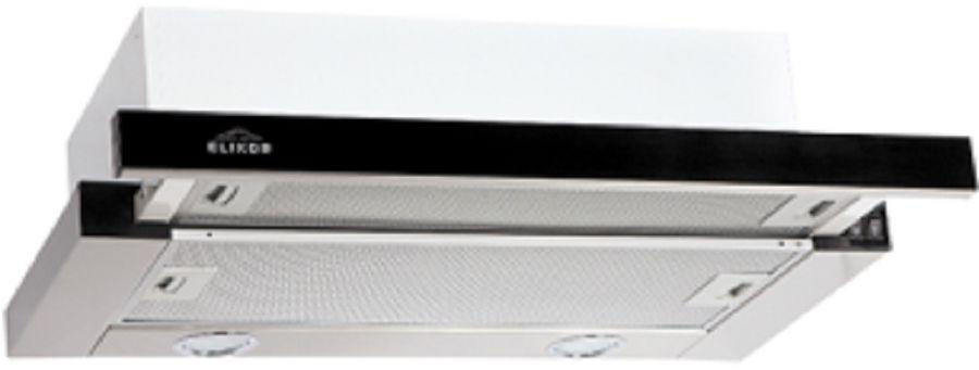 Вытяжка встраиваемая Elikor Интегра Glass 50Н-400-В2Д нержавеющая сталь/стекло черное управление: кн