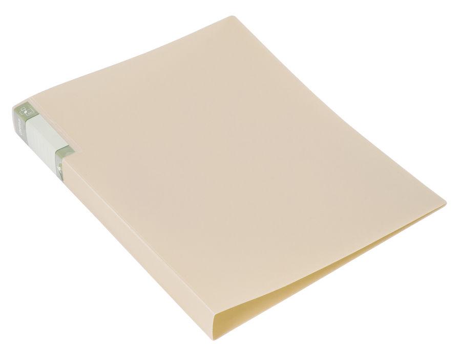 Папка с метал.пруж.скоросш. Бюрократ Gems GEM07PCREAM A4 пластик 0.7мм торц.карм с бум. встав кремов