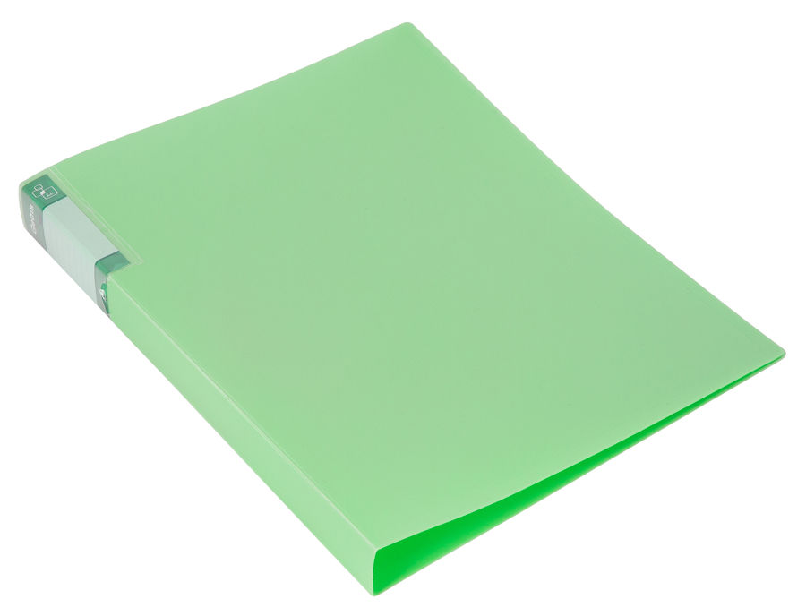 Папка с метал.пруж.скоросш. Бюрократ Gems GEM07PGRN A4 пластик 0.7мм торц.карм с бум. встав зеленый