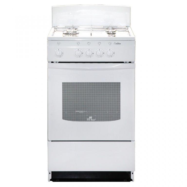 Газовая плита DE LUXE 5040.45г (щ)-001,  газовая духовка,  белый