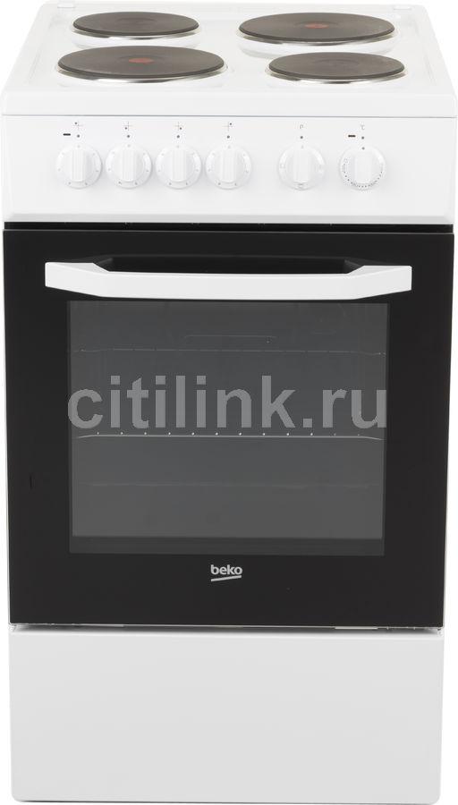 Электрическая плита BEKO FFSS56000W,  эмаль,  белый