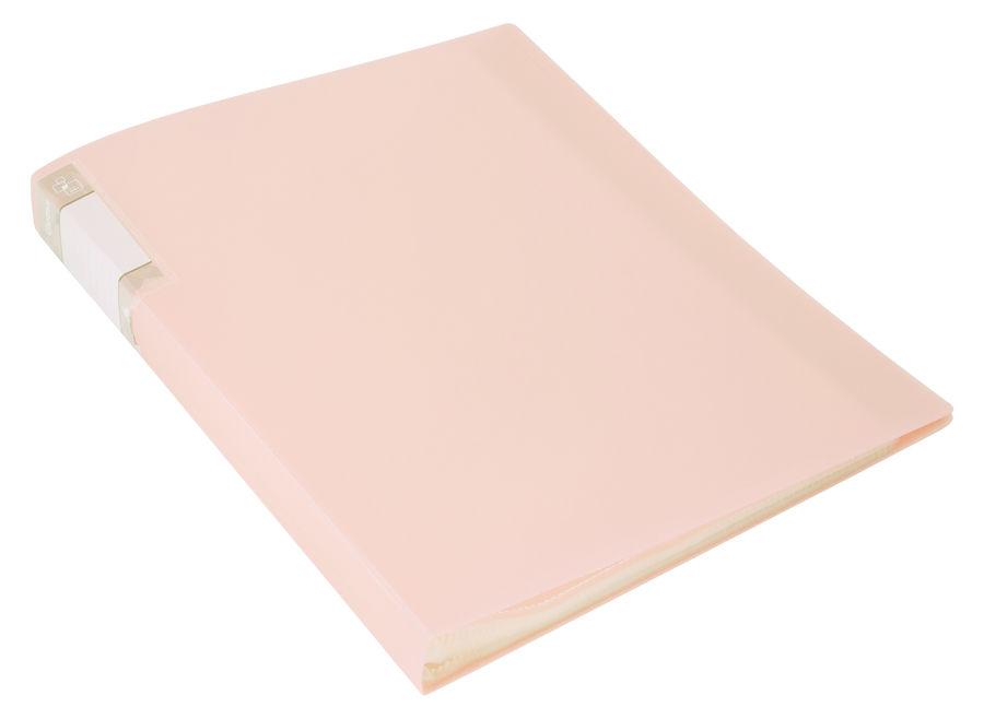 Папка с 20 прозр.вклад. Бюрократ Gems GEM20CREAM A4 пластик 0.7мм торц.карм с бум. встав кремовый же