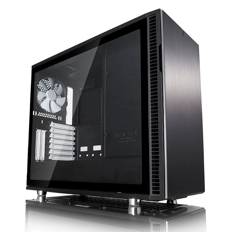 Корпус ATX FRACTAL DESIGN Define R6 TG, Midi-Tower, без БП, черный корпус matx fractal design define mini c tg mini tower без бп черный