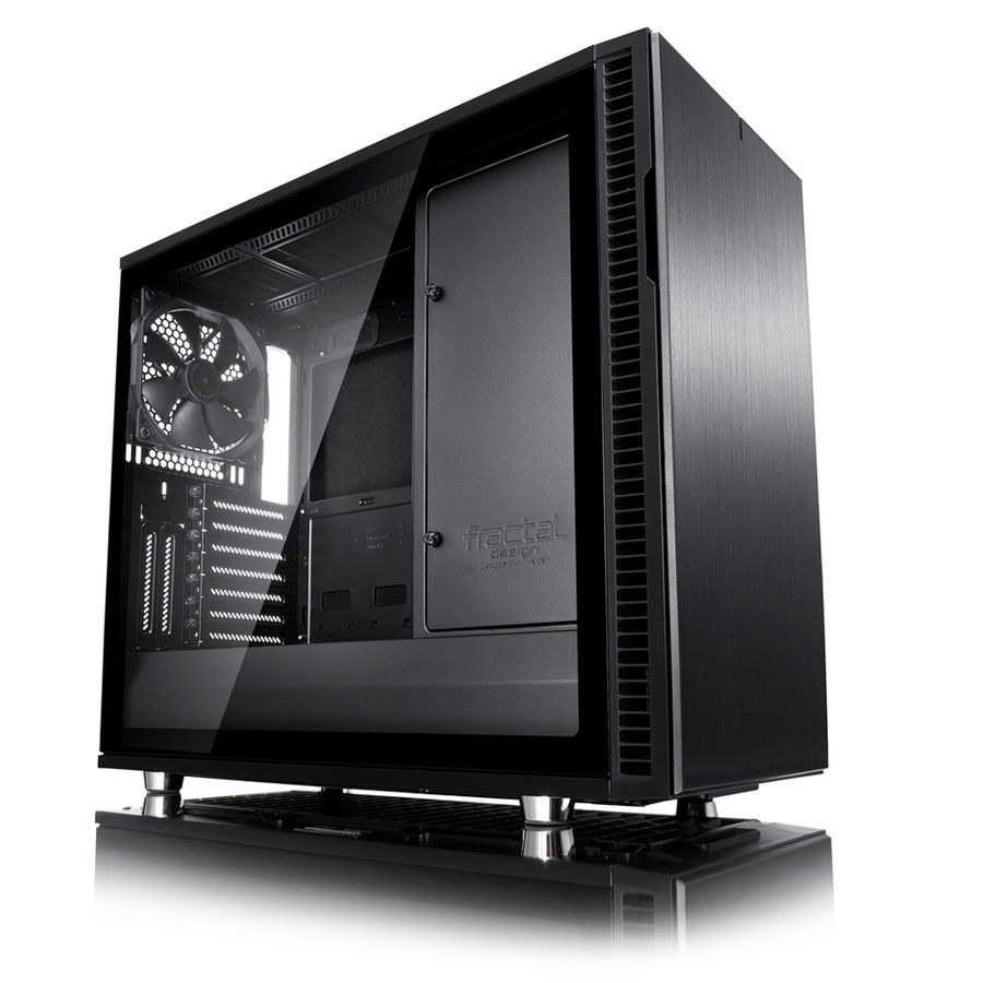 Корпус ATX FRACTAL DESIGN Define R6 Blackout Edition TG, Midi-Tower, без БП, черный корпус matx fractal design define mini c tg mini tower без бп черный