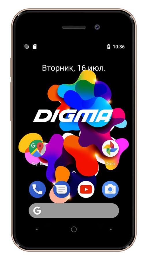 Смартфон DIGMA HIT 8Gb,  Q401 3G,  золотистый