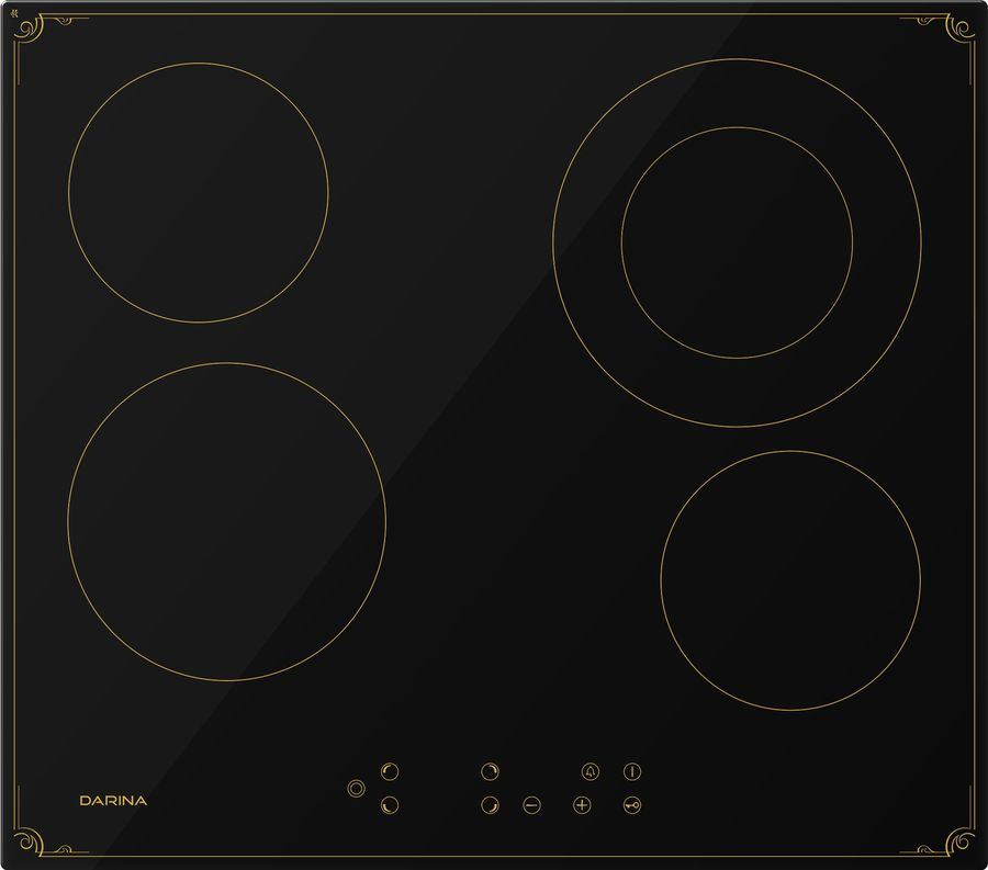 Варочная панель DARINA 4P8 E 326 B,  Hi-Light,  независимая,  черный