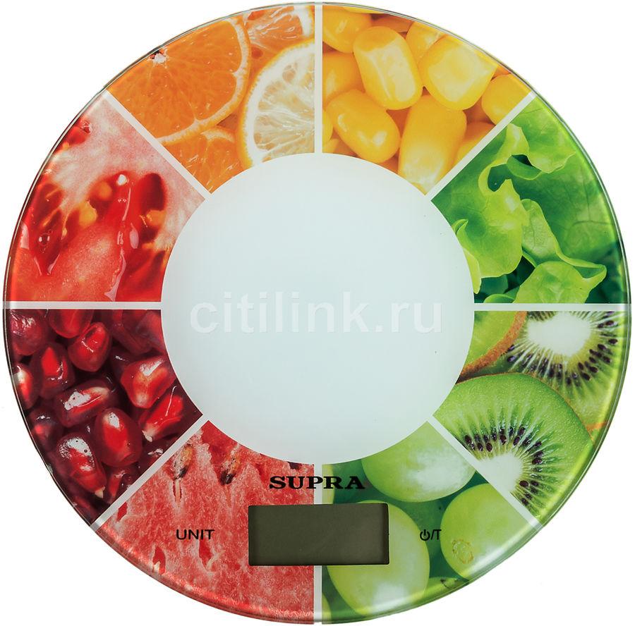 Весы кухонные SUPRA BSS-4603,  белый/ягоды