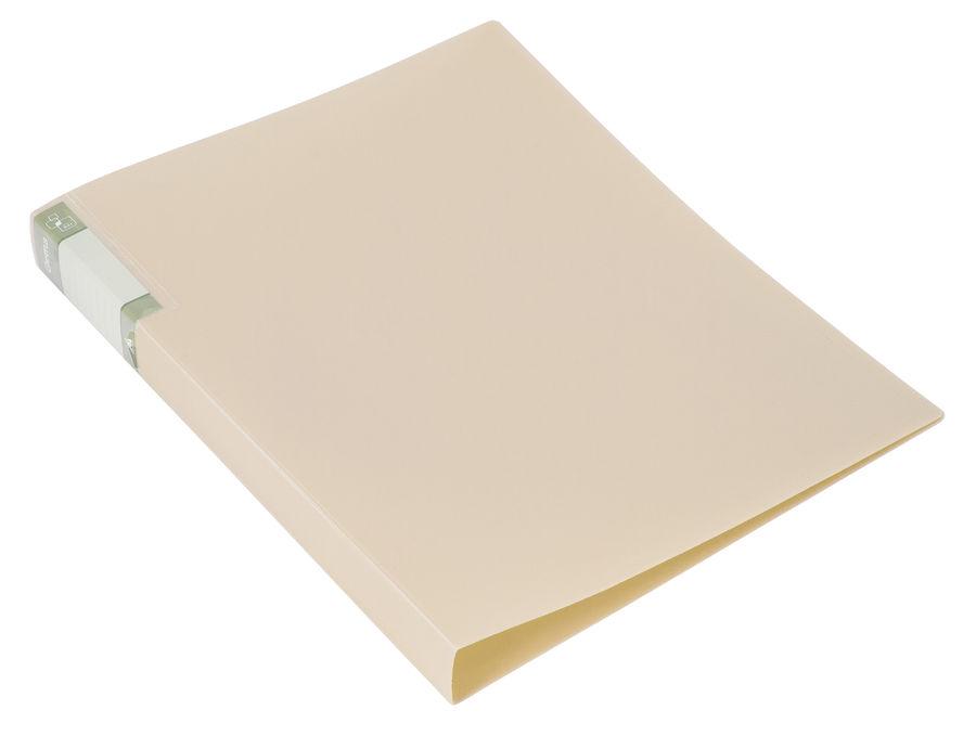 Папка с метал.зажим Бюрократ Gems GEM07CCREAM A4 пластик 0.7мм торц.карм с бум. встав кремовый жемчу